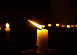 свеча траурная